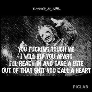 Slipknot lyrics to My Plague
