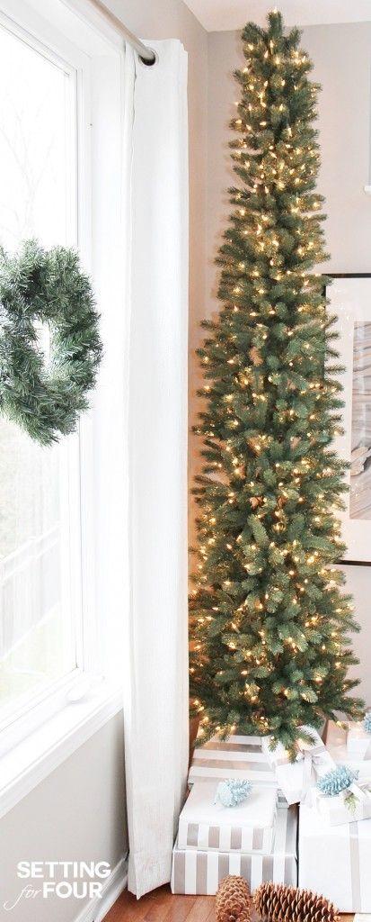 Prelit Skinny Christmas Trees