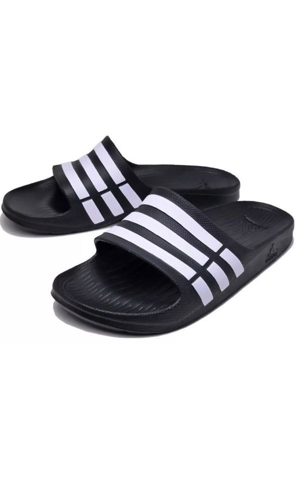 94bfa0ad67b ADIDAS Black White DURAMO SLIDES ATHLETIC SANDALS SPORT MENS 11 46 G15890  NEW  fashion  clothing  shoes  accessories  mensshoes  sandals (ebay link)