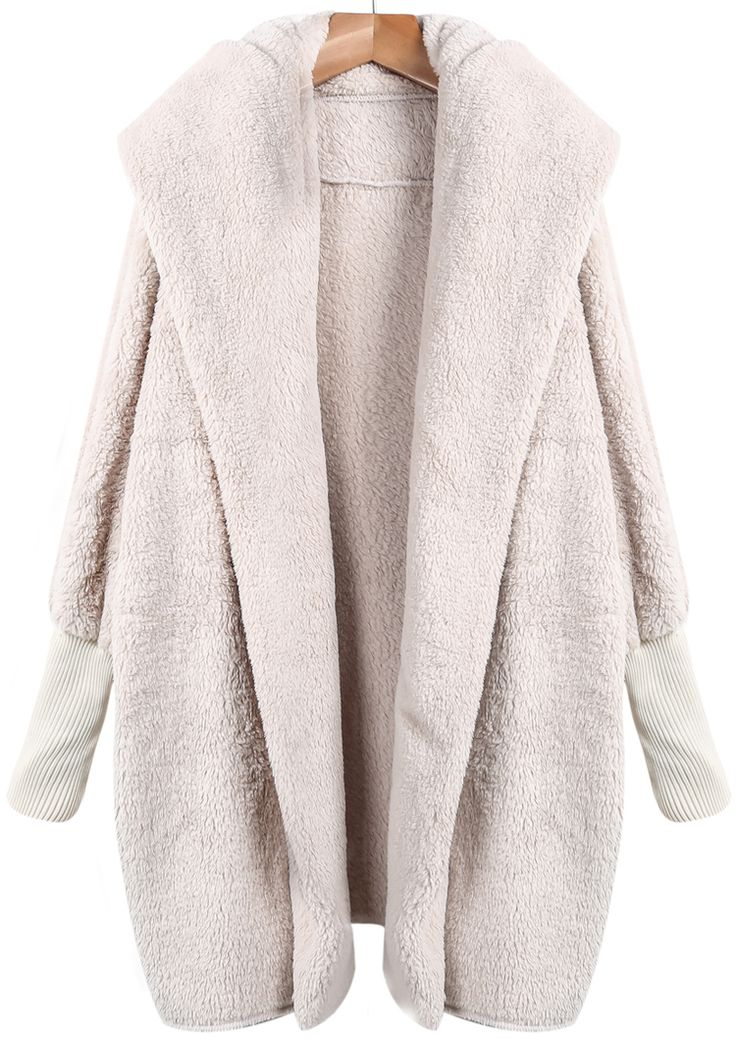 Apricot Lapel Long Sleeve Loose Coat $31