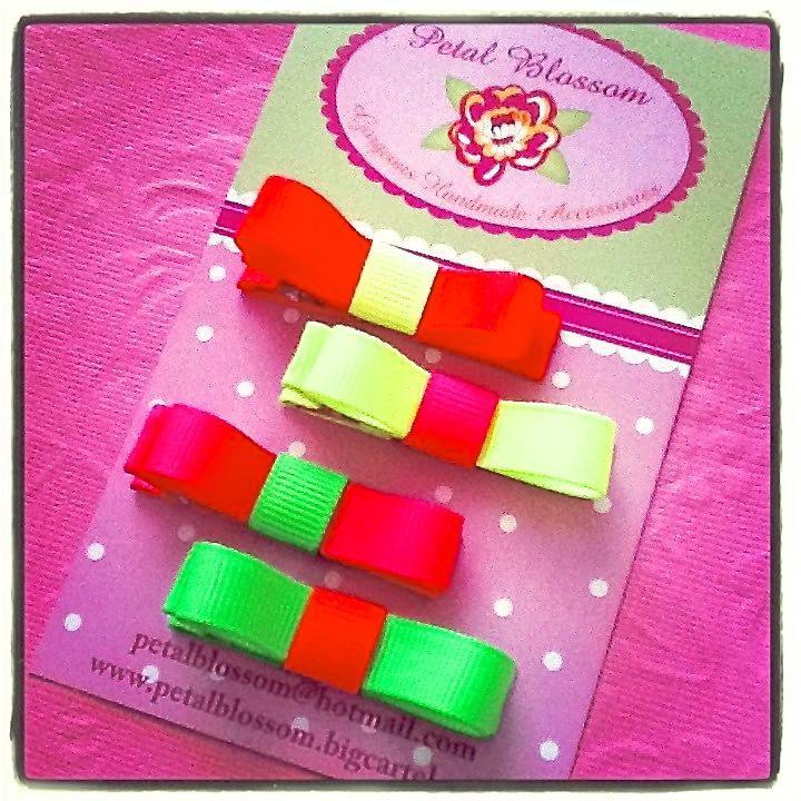$5.00 Neon Basic bows by petalblossom on Handmade Australia