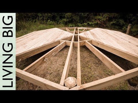 DIY Deck Platform For A Lotus Belle Tent (Or A Yurt) - Living Big In A Tiny House | Living Big In A Tiny House