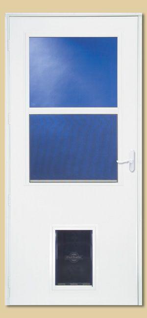 Storm Screen Doors With Pet Door Installed Might Be A
