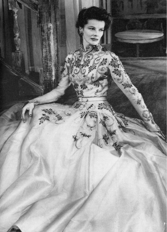 Katharine Hepburn In Pierre Balmain In The Play The