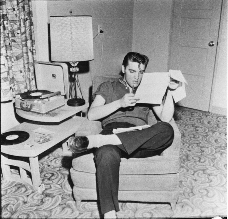 Elvis, spinning and chillin'