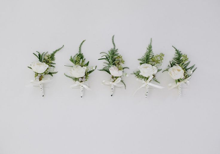 For the Groomsmen - Boutonnieres