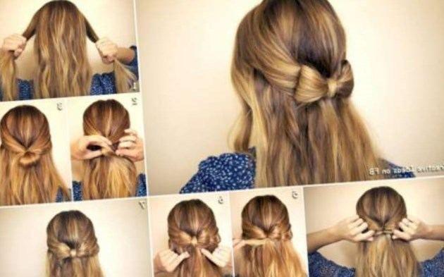 Idea Hairstyle Simple Et Rapide Cheveux Mi Longs Lookvisage Ru Cheveux Be Coiffures Simples Cheveux Mi Long Coiffure Facile