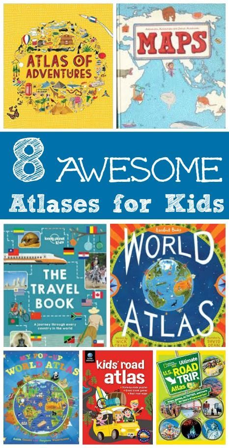 Kids will LOVE exploring the world with these great atlases and books of maps -- a perfect way to learn geography!