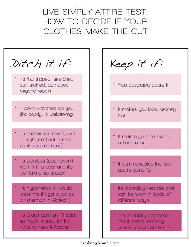 Do you need a little help deciding what to keep with cleaning out your closet?…