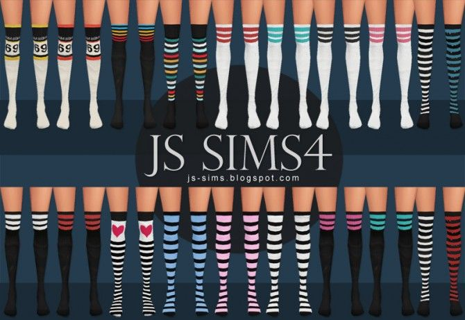 Sporty Knee High Socks at JS Sims 4 via Sims 4 Updates