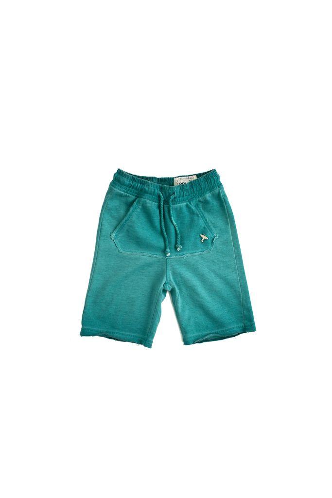 short in felpa SP1NE 3150753 smeraldo