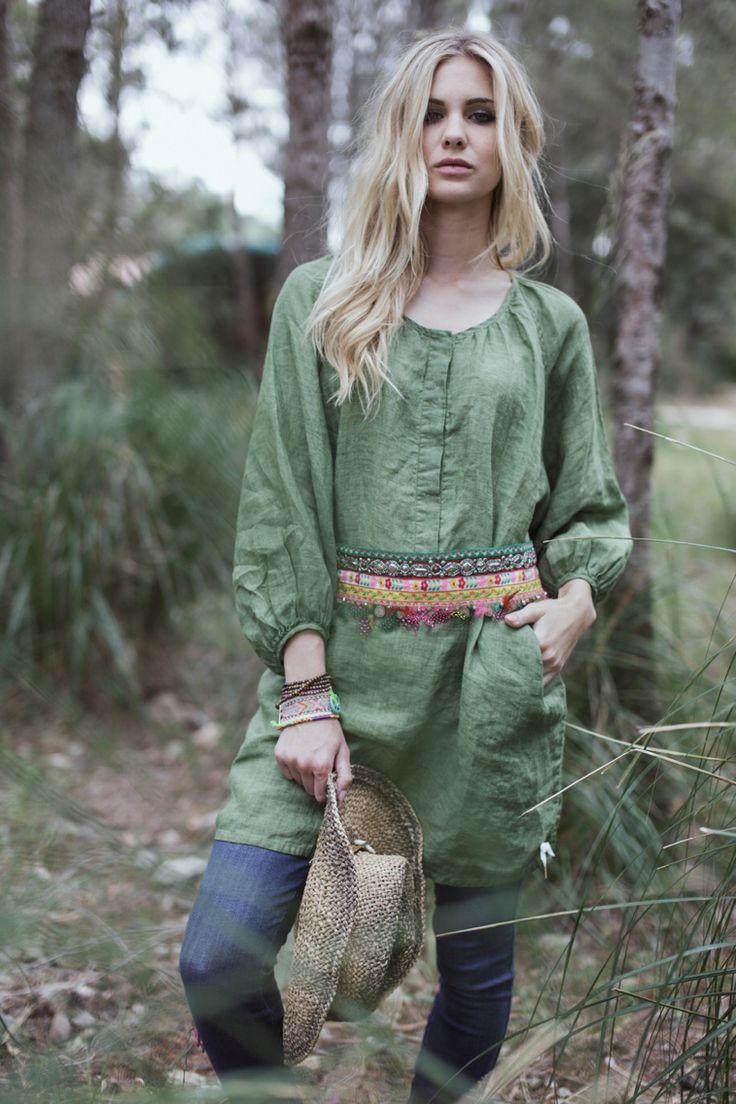 Bohemian linen shirt