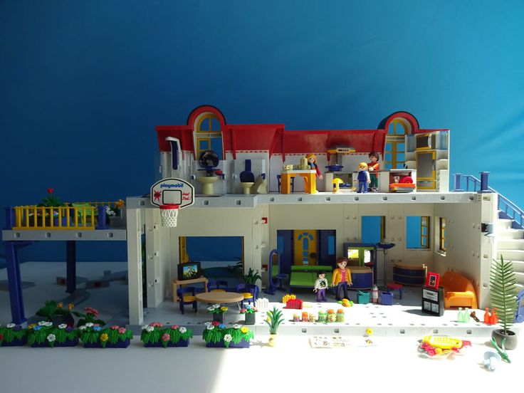 PLAYMOBIL 3965 Modern House Dollhouse with Accessories Kitchen Bathroom Living R #PLAYMOBIL