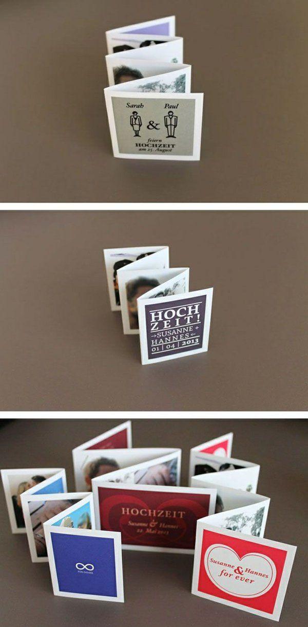 leporello einladungen grußkarten basteln mit papier