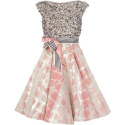 Gemustertes Petticoat-Kleid von Talbot Runhof. Kleid mieten. #dresscoded