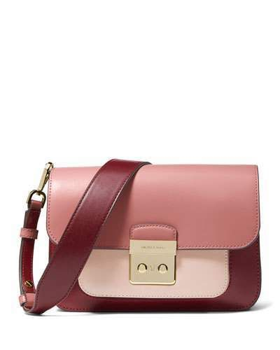 be2da57850cb MICHAEL Michael Kors Sloan Editor Large Colorblock Leather Shoulder Bag