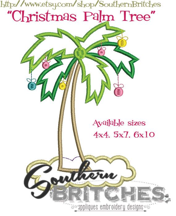christmas palm tree applique christmas in july design machine embroidery santas palm tree palm trees for christmas july sale christmas - Christmas Palm Trees For Sale