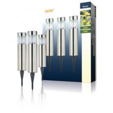 Ranex 3 LED solar lampen met pin - IP44|buitenleven|herfst - Vivolanda