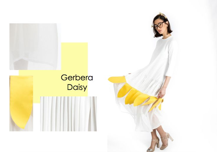 """GERBERA DAISY by Maison Stella Sallaku – JAANTE SHOWROOM  Collection #SS17 """"DAISY"""" #womenswear by Maison #StellaSallaku  // The """"Maison Stella Sallaku""""– A small #HauteCouture #fashion house with a #sustainable fashion story behind the brand where the designer, #StellaSallaku designs elegant and #ecofriendly fashion. Most of her Haute Couture master pieces are limited edition. #MustHave #women #dress #jaanteshowroom #switzerland #balkans #ecofriendly #emergingdesigner #dubai #Barcelona #uae"""