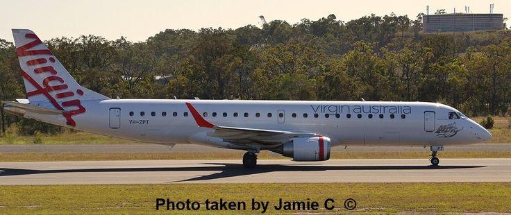 E 190 Jet | Virgin Australia Embraer E-190 Jet VH-ZPT at Gladstone Airport Monday