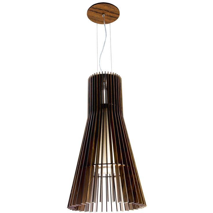 Flared 1138 Turned Slats Pendant | Lightology Collection at Lightology