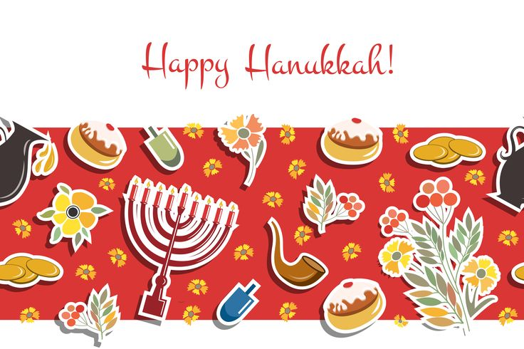 Happy Hanukkah Card by Alps View Art on Creative Market: