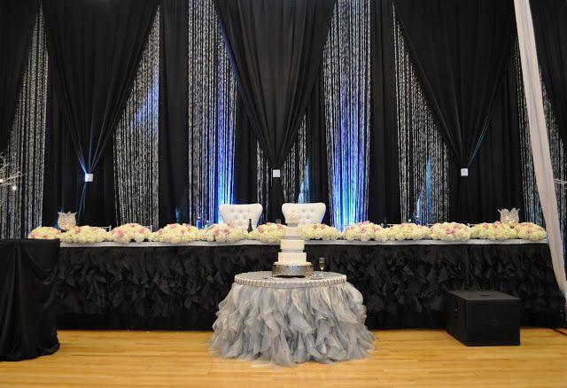 Head table backdrop BLACK!