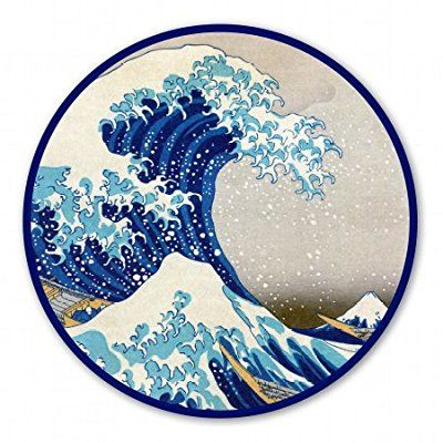 Great Wave Off Kanagawa Circle Vinyl Sticker