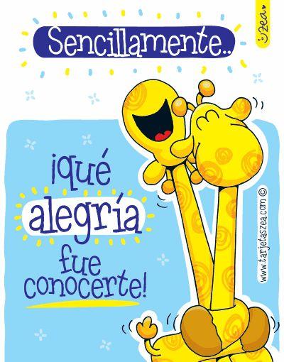 Eres la alegría de cada día-jirafas abrazadas © ZEA www.tarjetaszea.com