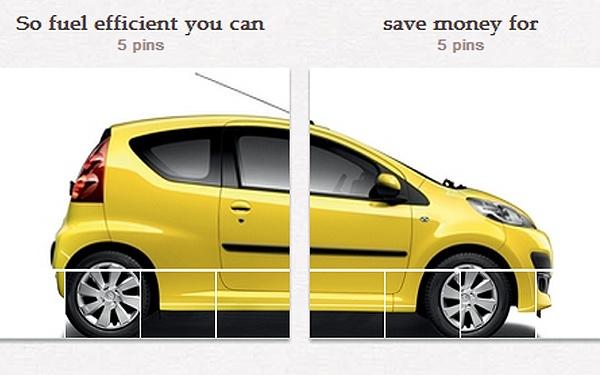 Campaña de auto en Pinterest