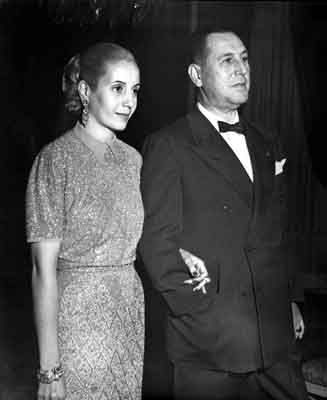 Eva and Juan Domingo Peron, founder of 'el Peronismo' a political stream what could be compared with extream left winged. Lots of Argentinians adores this way of leading the country