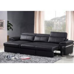Leather Panama BLACK 3 Seater Chaise with sofa bed RHF http://solidwoodfurniture.co/product-details-sofas-3334-leather-panama-black-seater-chaise-with-sofa-bed-rhf.html