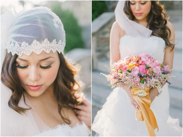 Julia Park Photography Toronto Diva's Boutique Veils and Headpieces by Blair Nadeau Millinery Fresh Floral Creations The Wedding Opera
