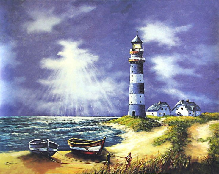 Lighthouse (Reprint on Paper - Unframed)