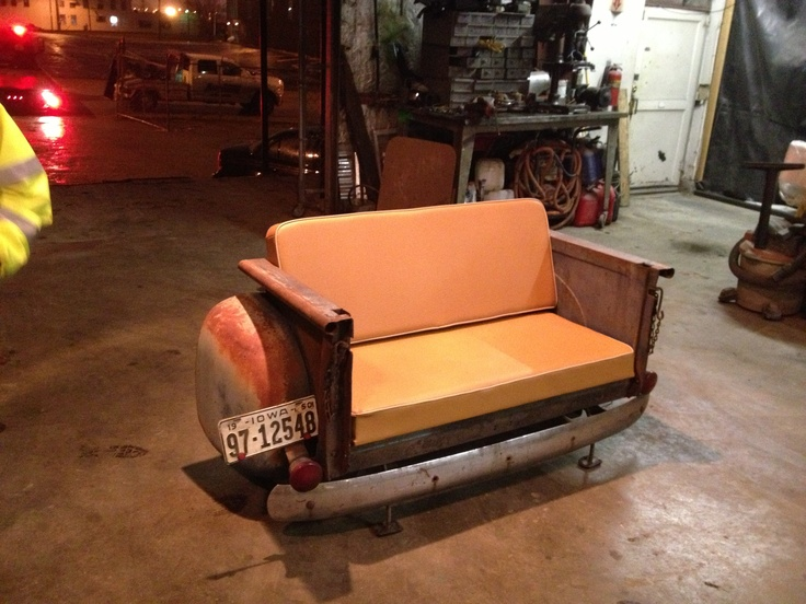 53 chevy bed couch car furniture pinterest beds Custom furniture made car parts