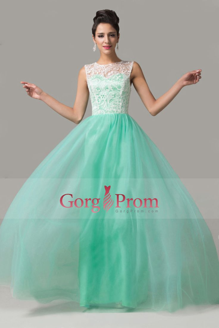2015 Scoop A Line Court Train Sassy Prom Dress Tulle With White Lace