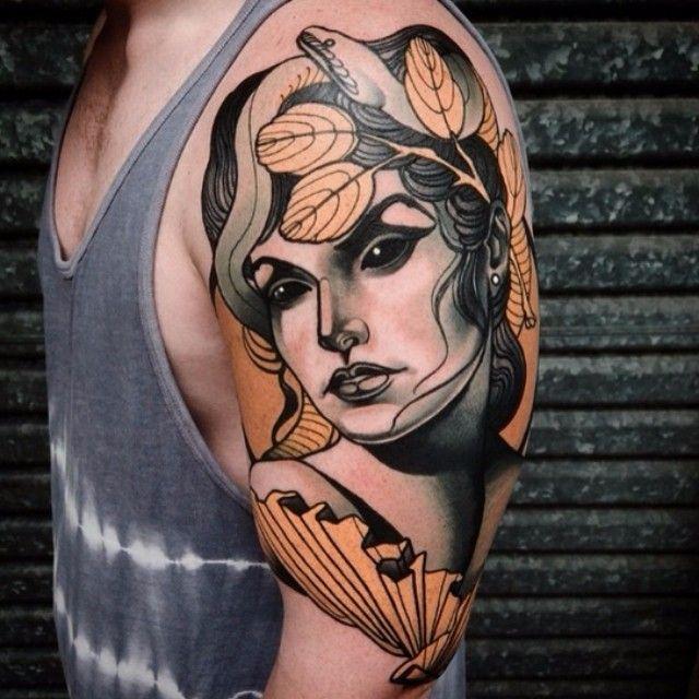 Dark Eyed Fan Girl tattoo