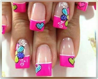 modelos de decoracion de uñas francesas