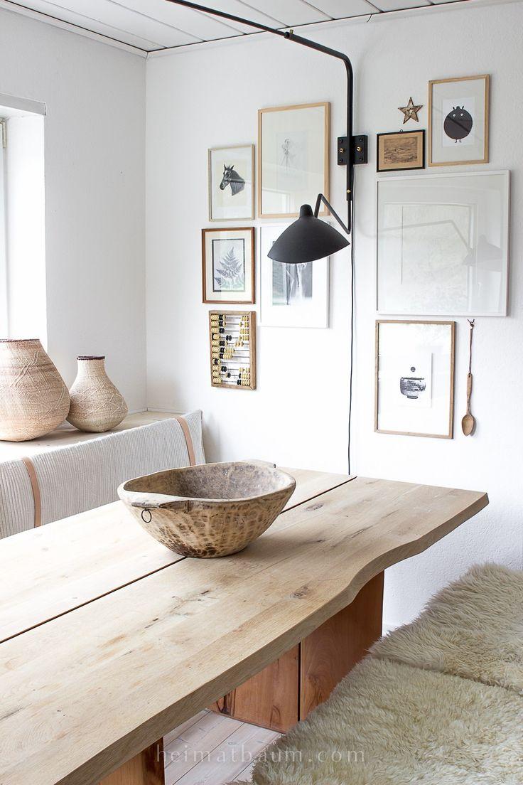 die besten 25 esstisch holz ideen auf pinterest caf. Black Bedroom Furniture Sets. Home Design Ideas