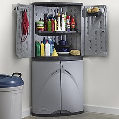 outside corner storage cabnet | Rubbermaid Garage Storage Cabinets: #7082-00 Heavy Duty Full Cabinet