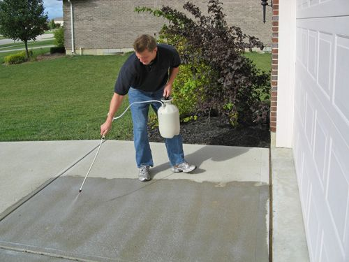 how to clean wet poop off cement