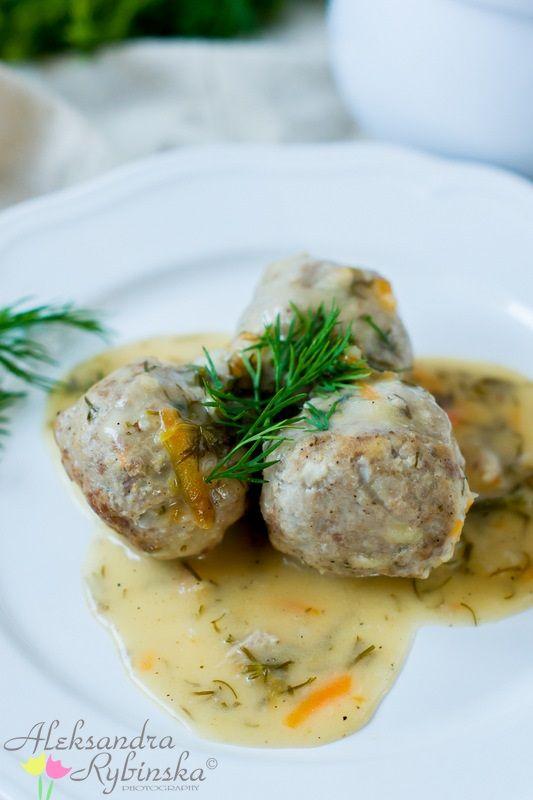 Przepisy Aleksandry: PULPETY W SOSIE KOPERKOWYM/ Polish pork meatballs in creamy…