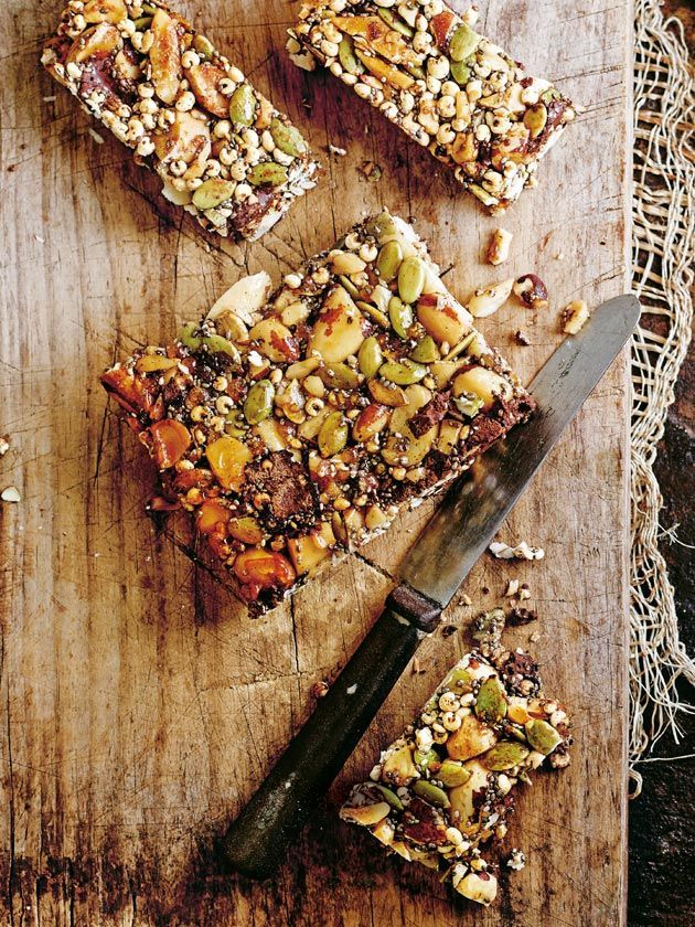 Choc Nut And Chia Seed Slice | Donna Hay