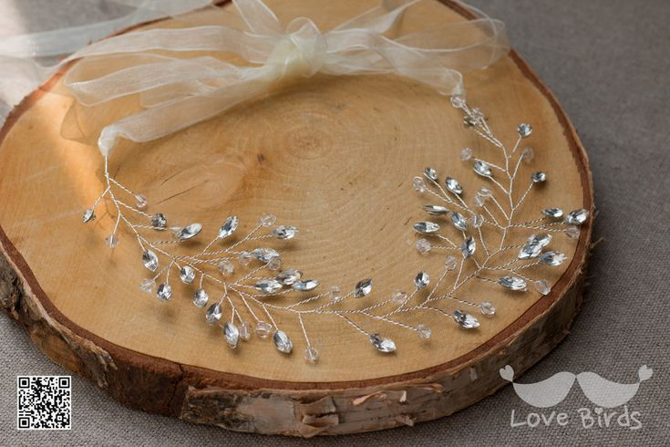 Haarschmuck & Kopfputz - Brautkranz, Haarranke, Kristall Perlen Haarband - ein Designerstück von love_birds bei DaWanda