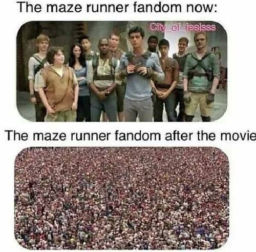 This will probably happen, and when I'm at school and everyone's reading it, I'll look like the only person that hasn't read it, though I did. Way before them!