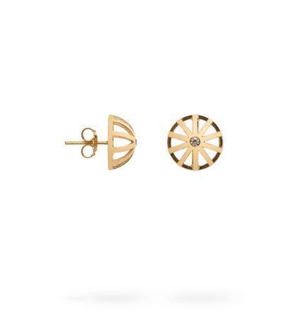EARRINGS SMALL/LARGE, 18K GOLD, DIAMONDS