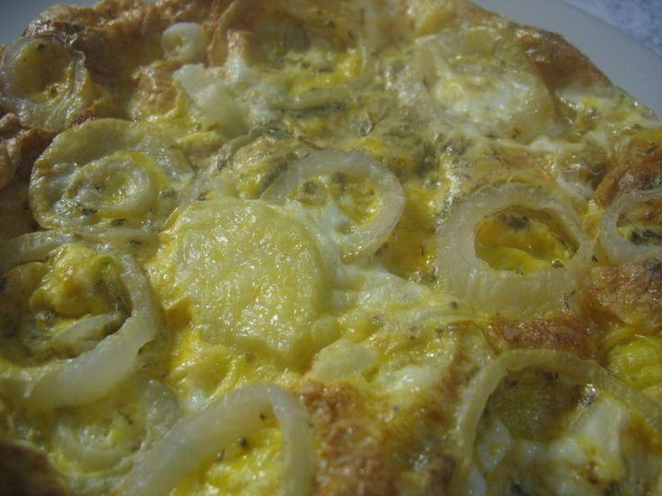 Tortilla con patate e cipolle, cotta con la funzione crisp del microonde | Mica solo dolci ...