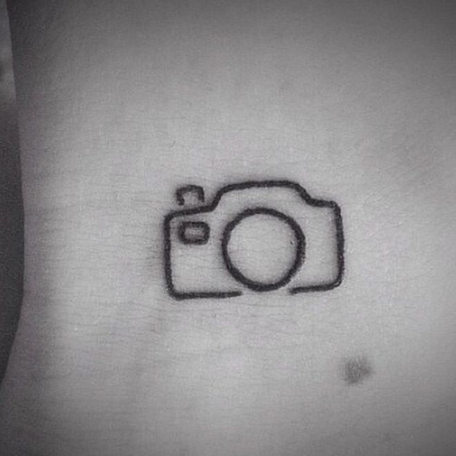 Super simple camera tattoo