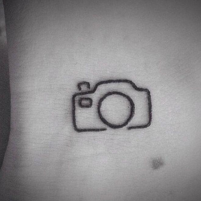 Super simple camera tattoo