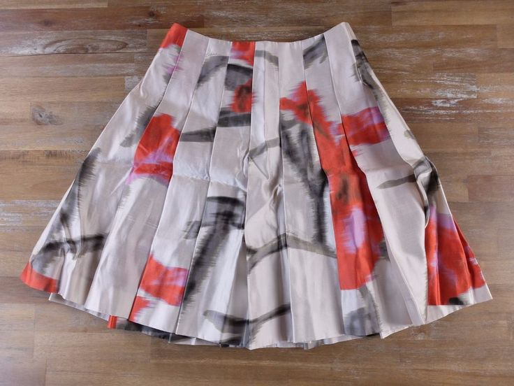 auth CELINE Paris silk print pleat skirt - Size 38 FR / 6 US - NWT   Clothing, Shoes & Accessories, Women's Clothing, Skirts   eBay!